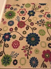 Kids floral rug