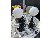 Two retro table lamps