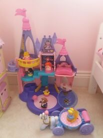 Fisher Price Disney princess castle and carriage