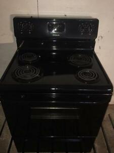 Frigidaire Black Coil Top Range/Stove, Free Warranty, Delivery Available