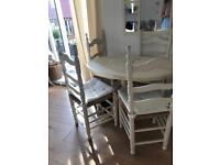 Table and chairs - can go separately or as a set