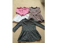 Next long sleeve dresses 12-18 months