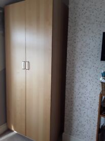 Complete set of bedroom furniture - wardrobes & drawers - total of 6 pieces