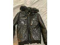 River Island boys leather look jacket 11yrs