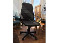 Black office chair - gas lift, height adjustable with wheels