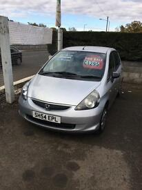 honda jazz for sale 54 reg (kilmarnock)1 years mot 124 on the clock full service history 2 keys