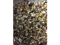 Big bags of natural fish tank gravel