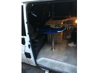 vw camper van surf board table with floor mount and stand surf van day van volkswagen