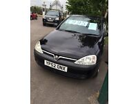 Vauxhall Corsa 1.2 Black for sale, great for first time drivers, nice and easy run around car