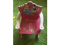 Beautiful girls princess rocking chair