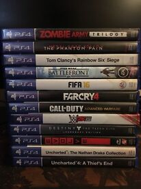 PS4 500GB + Pad + 12 Games + Wires