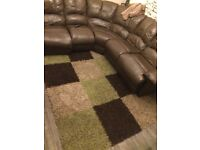 Extra large green rug