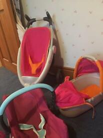 Dolls Quinny Pushchair and car seat