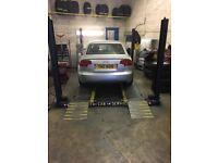 4 post car lift bradbury 3 tone