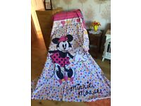 Double Beds, Duvet Set with Curtins , Tie Backs 66 x 72 (Minnie Mouse )