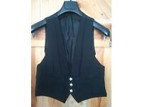 Kilt Jacket Waistcoat Black Dress Prince Charlie Waistcoat 38R Regular
