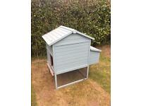 Painted wooden classic Chicken coop and run