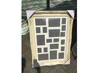 "30""x20"" cream wooden swept frame with multi mount"