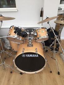 Yamaha drum kit + zildijian cymbals