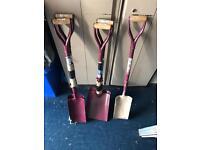 Job lot of 5 faithful steel shovels