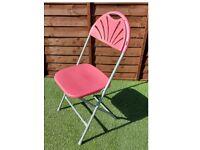 Plastic Economy Plus Folding Chair, Grey Frame, Burgundy Shell