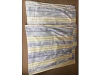 Blue & Yellow Curtains - Vgc