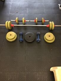 Dumbbell with bars and weights