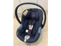 Cybex baby car seat and rain cover