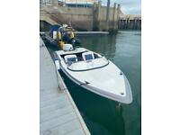 Global Sabre speed boat engine and trailer