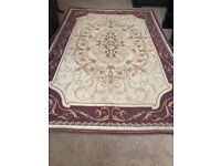 Lovely Laura Ashley Rug beige and purple