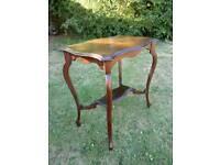 Dark wood table