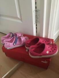 Girls crocs £8each size 11