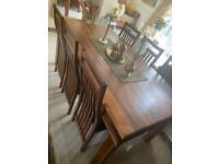 DINING TABLE 6 CHAIRS WOOD