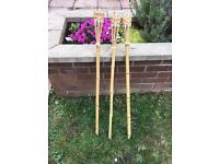 Set of 3 Garden torches