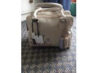 Real Leather Debenhams Handbag + matching purse Brand New