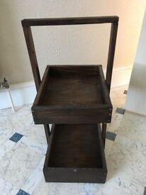 Dark Brown Storage Shelves / Bathroom Cabinet / Bed side Table