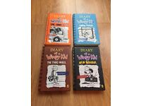 Diary of a wimpy kid hard back books x4