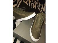 GIUSEPPE ZANOTTI GREEN MID-TOP SNEAKER. UK 9.5 BRAND NEW RRP £570.00 not Balenciaga Louboutin