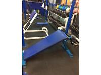 Fixed decline/sit up bench