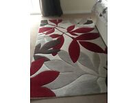 6ft x 4ft Rug, with cream, brown and burgundy pattern