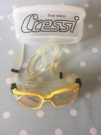 WOMANS CRESSI SCUBA DIVING GOGGLES WITH BOX