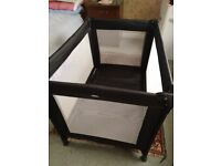 Red Kite travel cot, Mattress and fitted sheets