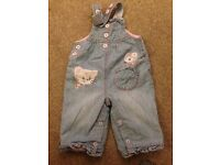 Next Dungarees Baby Girls. 3-6 months