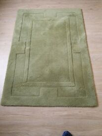 Lovely green rug in excellent condition