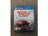 PS4 Need for Speed Payback in mint condition like new
