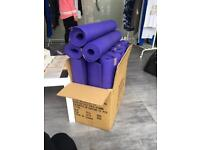 18 purple yoga mats