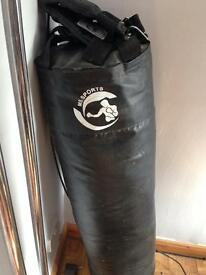 Black punch bag