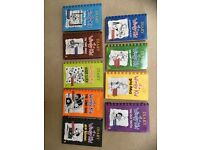 Entire Follow-up series of Wimpy Kid books by Jeff Kinney - 9 books (7 hardback) v. good condition