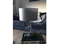 LOVELY GREY AND CHROME LAMP