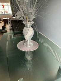 Glass dining table snd chairs